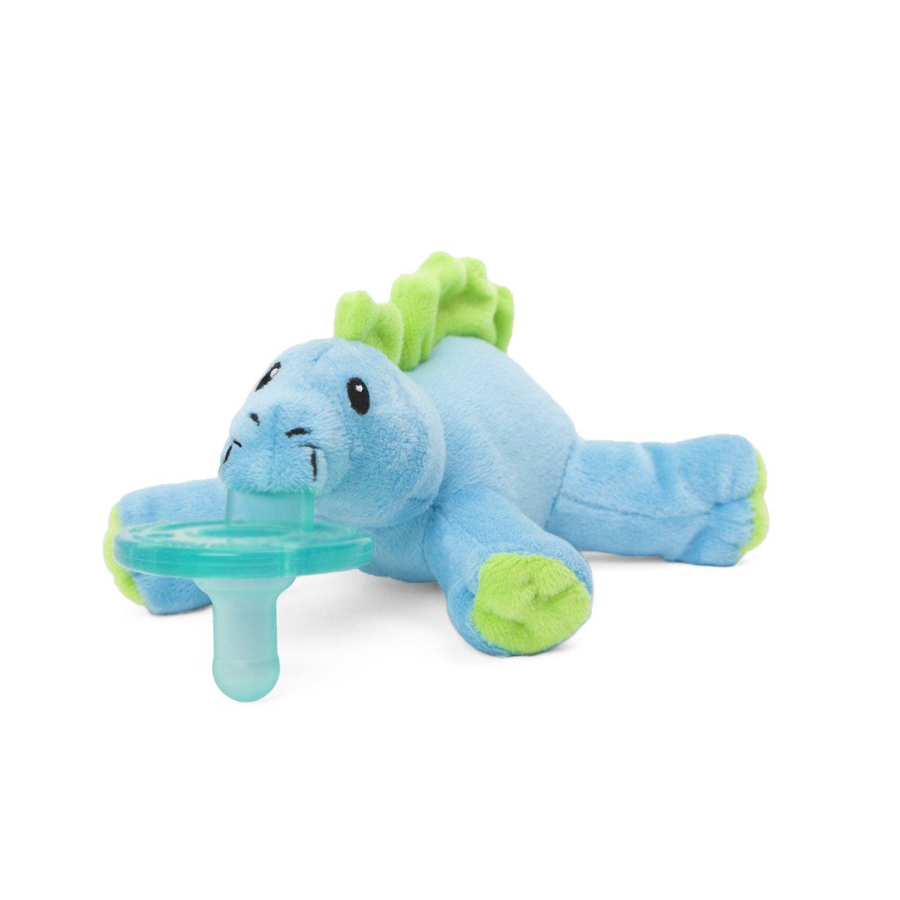 Wubbanub Brights Infant Pacifier - Baby Dino