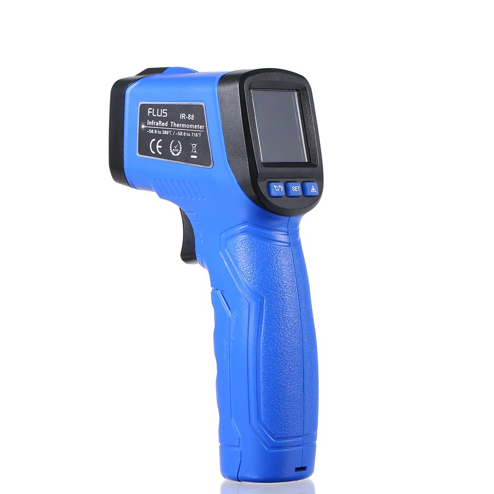 KKmoon Mini Non-contact Infrared Thermometer Handheld LCD Display Digital Laser IR Infrared Thermometer Temperature Tester -58℉~716℉(-50℃~380℃)
