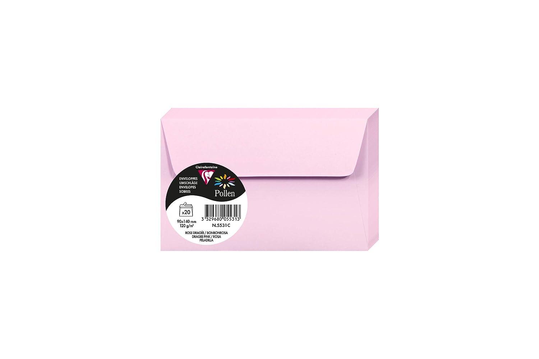 120 g karamel in Format FT30, 90 x 140 mm Clairefontaine 5481C Packung mit 20 Umschl/äge Pollen