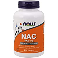 Now NAC 1000 mg, 250 Tablets, N-Acetyl-Cysteine
