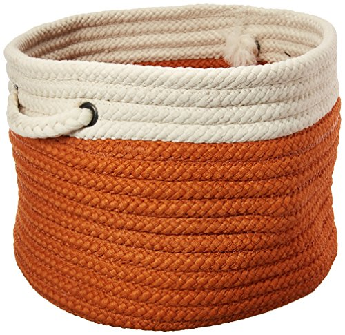 Dipped Indoor/Outdoor Baskets Colonial Mills, 14 by 10-Inch, Orange