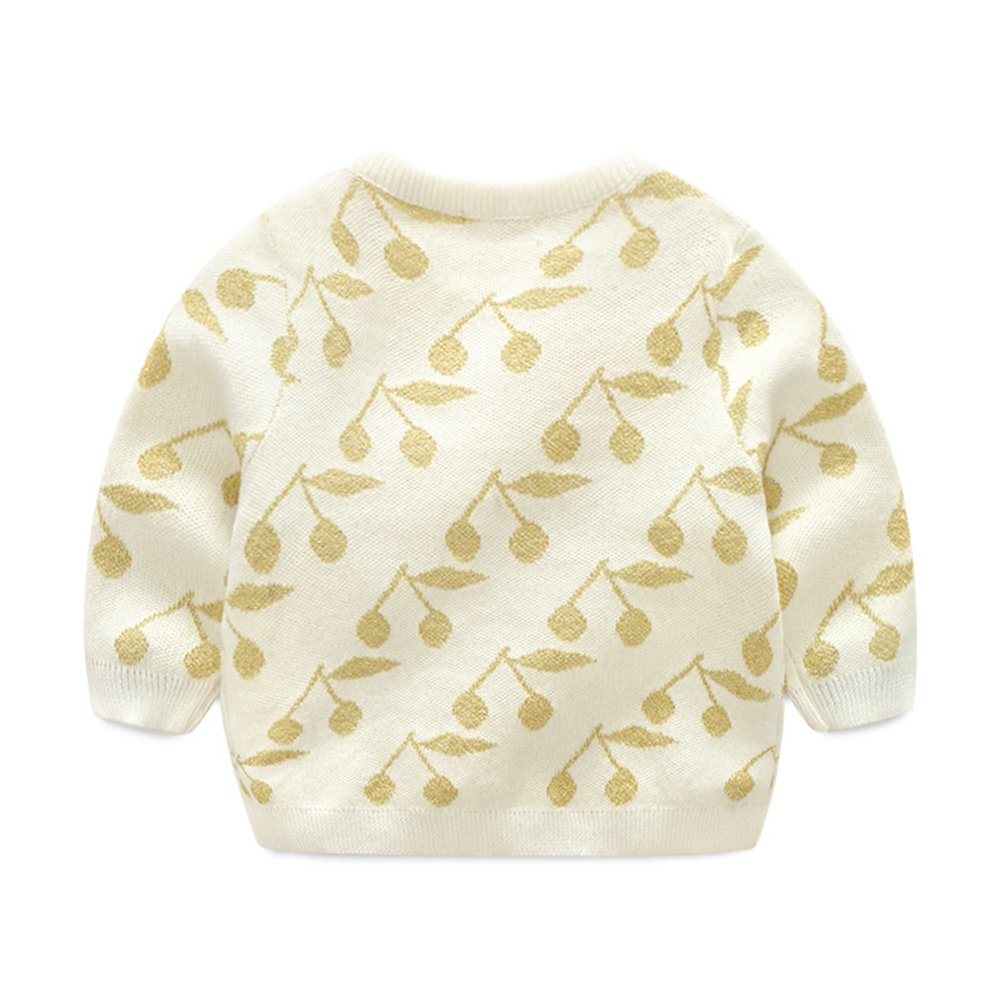 7ab817a2c LOSORN ZPY Baby Girl Sweater Cotton Toddler Golden Cherry Knit ...