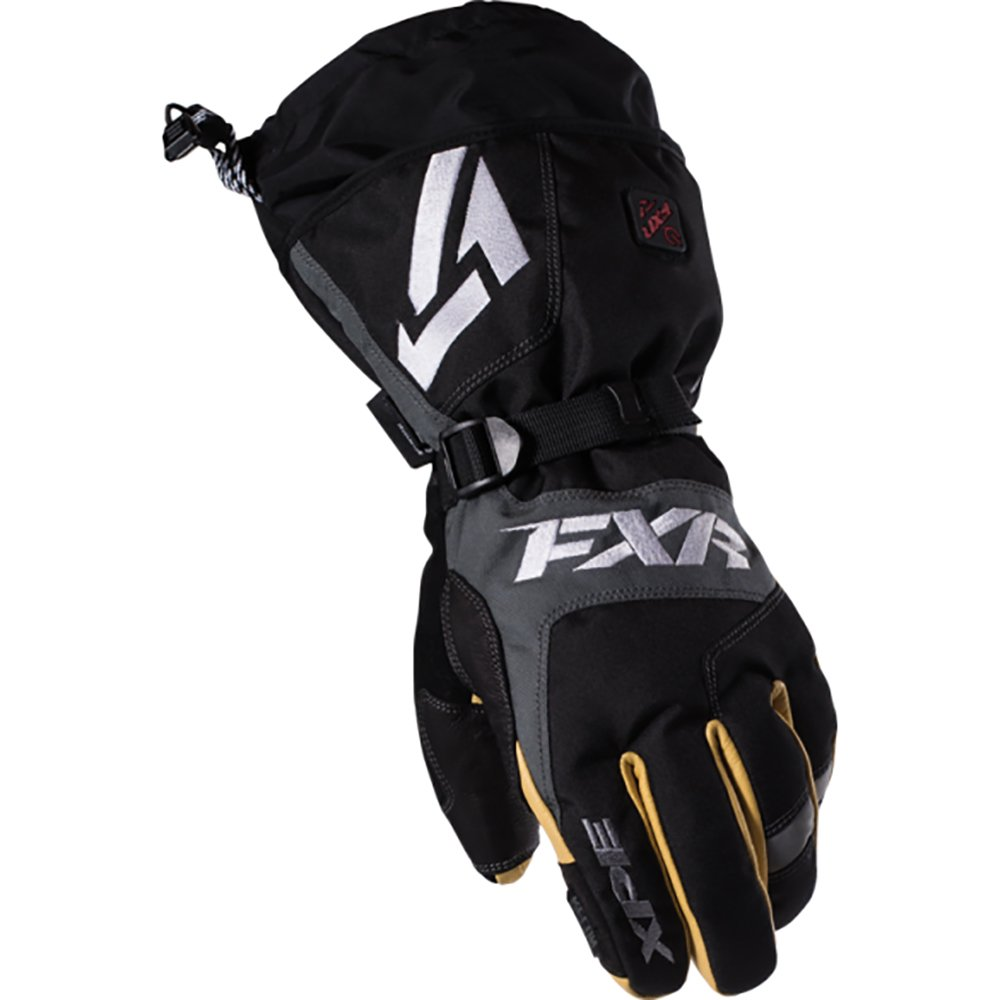 FXR Heated Recon Glove Authentic Thinsulate Waterproof Pre-Curved Snowmobile - Black - XX-Large