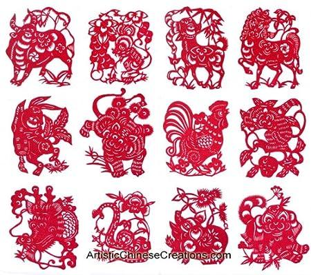 Chinese Zodiac Symbols Chinese Art Chinese Crafts Chinese