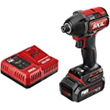 SKIL Pwrcore 20 Brushless 20V 1/4 Hex Impact Driver, Includes 2.0Ah Lithium Battery & Pwrjump Charger - ID573902