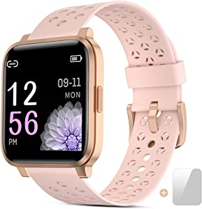 Smart Watch Fitness Tracker for Women Men Activity Watch and Heart Rate Monitor Waterproof Smart Bracelet with Sleep Monitor Pedometer Calorie Stopwatch with 16 Sport Modes.
