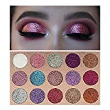 Beauty Glzaed 15 Colors Glitter Make-up Powder Metallic Shimmer Eye Shadow Palette Highly Pigmented Mineral Cosmetic Makeup