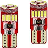 AllExtreme EXT15CW Universal T10 LED Parking Light 5630 CMD Super Bright Interior Pilot License Plate Dome Indicator Lamp Bulb for Car Bike and Motorcycle (3W, White, 2 PCS)