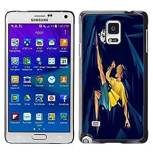 Dragon Case - FOR Samsung Galaxy Note 4 - Playing football - Caja protectora de pl??stico duro de la cubierta Dise?¡Ào Slim Fit
