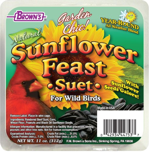 (F.M. Brown's Garden Chic Suet and Bread Cakes, 11-Ounce, Sunflower Feast)