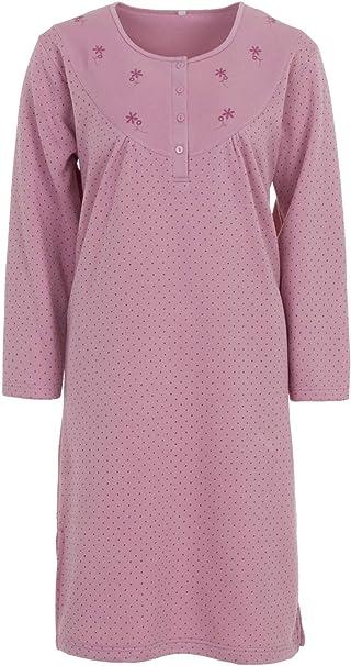 LUCKY - Camisa de Dormir para Mujer Ropa de Dormir Camisón ...