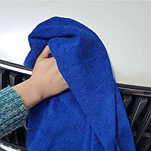 "MaxLit Premium Microfiber Cloth - Pack of 6 Best Cleaning Towels for Fine Automobile finishes, Car Windows & Interiors- Great for Glass- Non Scratching, Streak Free- Use Wet or Dry- 16"" x 16"""