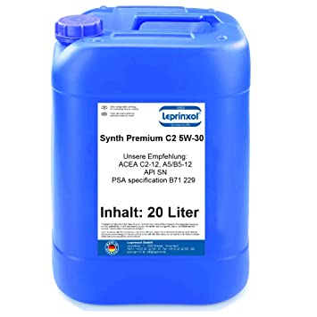 Leprinxol Synth C2 5W-30 20 litros LSC C2 5W30 Aceite de Motor para Renault