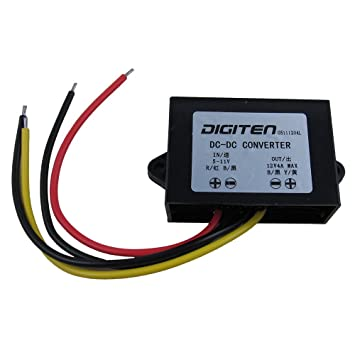 DIGITEN DC 6V 5-11V to 12V 4A Step up Converter Regulator Waterproof Boost  Power Module