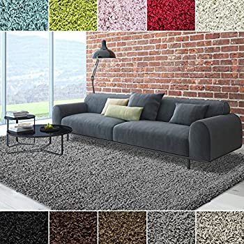 iCustomRug Dixie Cozy Soft And Plush Pile, 5ft0in x 7ft0in ( 5X7 ) Shag Area Rug In Charcoal / Dark Grey