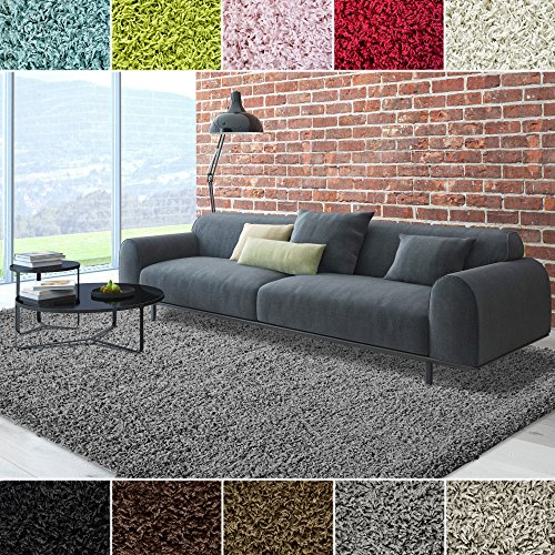 ICustomRug Cozy Soft And Plush 7ft10in X 10ft 8X10 Shag Area Rug In Charcoal Dark Grey