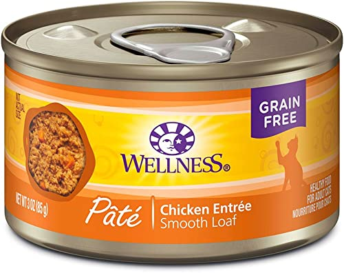 Wellness Complete Health Pate Cat Food Variety Bundle 3 Ounce – 3 Flavors 12 cans with Can Topper