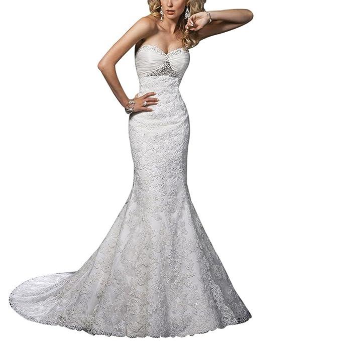 George Bride Sexy Nixe Punta ueber satén Capilla Tren Vestidos de novia Vestidos de Boda beige
