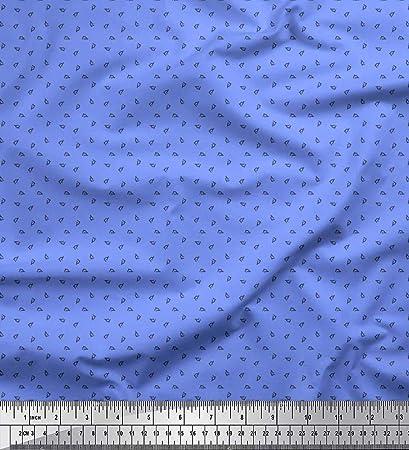 Soimoi Azul gasa de viscosa Tela Microscopio tela de camisa ...