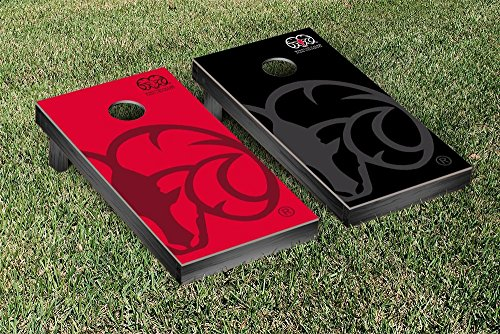 Winston Salem State Rams Regulation Cornhole Game Set Watermark Version by Victory Tailgate