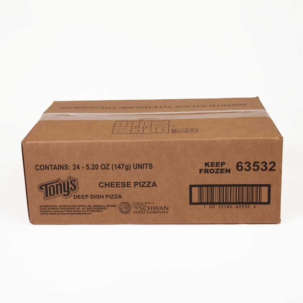 Schwans Tonys Cheese Par Baked Deep Dish Pizza, 5.5 Ounce - 24 per case. by Schwan's (Image #1)
