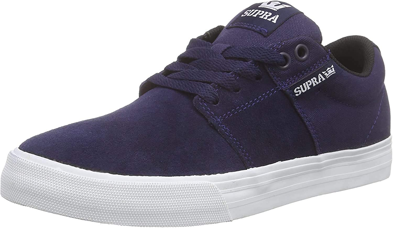 Supra Stacks Vulc II, Baskets Basses Mixte Bleu Navy White Nvy