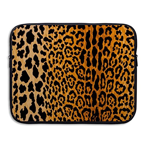 (Homlife Laptop Sleeve Bag Leopard Print Pattern 13/15 inch Briefcase Sleeve Bags Cover Notebook Case Waterproof Portable Messenger Bags)