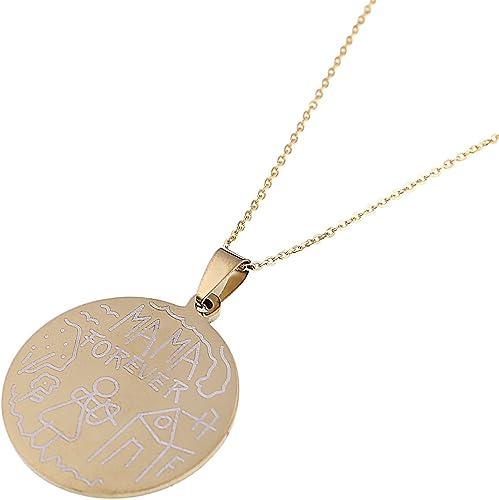 US7 la Cruz de la vida Colgante Collares Color Oro Acero Inoxidable egipcio un