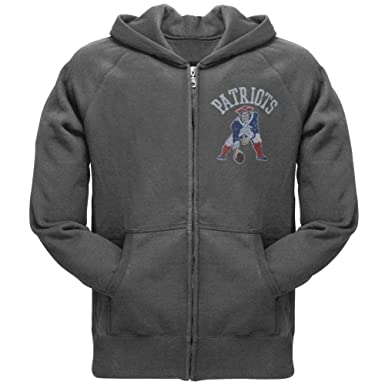 18aa0edf8 Old Glory New England Patriots - Old School Logo Juniors Hoodie - X-Large  Grey