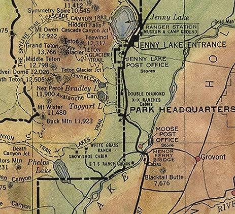 Amazoncom Teton National Park Vintage Historic Antique - Vintage sf map