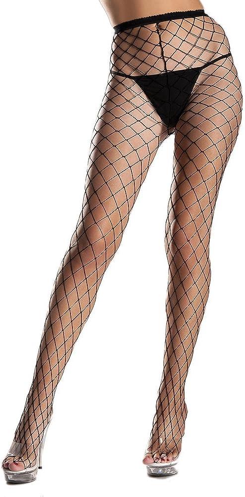 Ladies Fishnet Tights Size 6 8 10 12 14 16 Black White Green Red Purple Orange