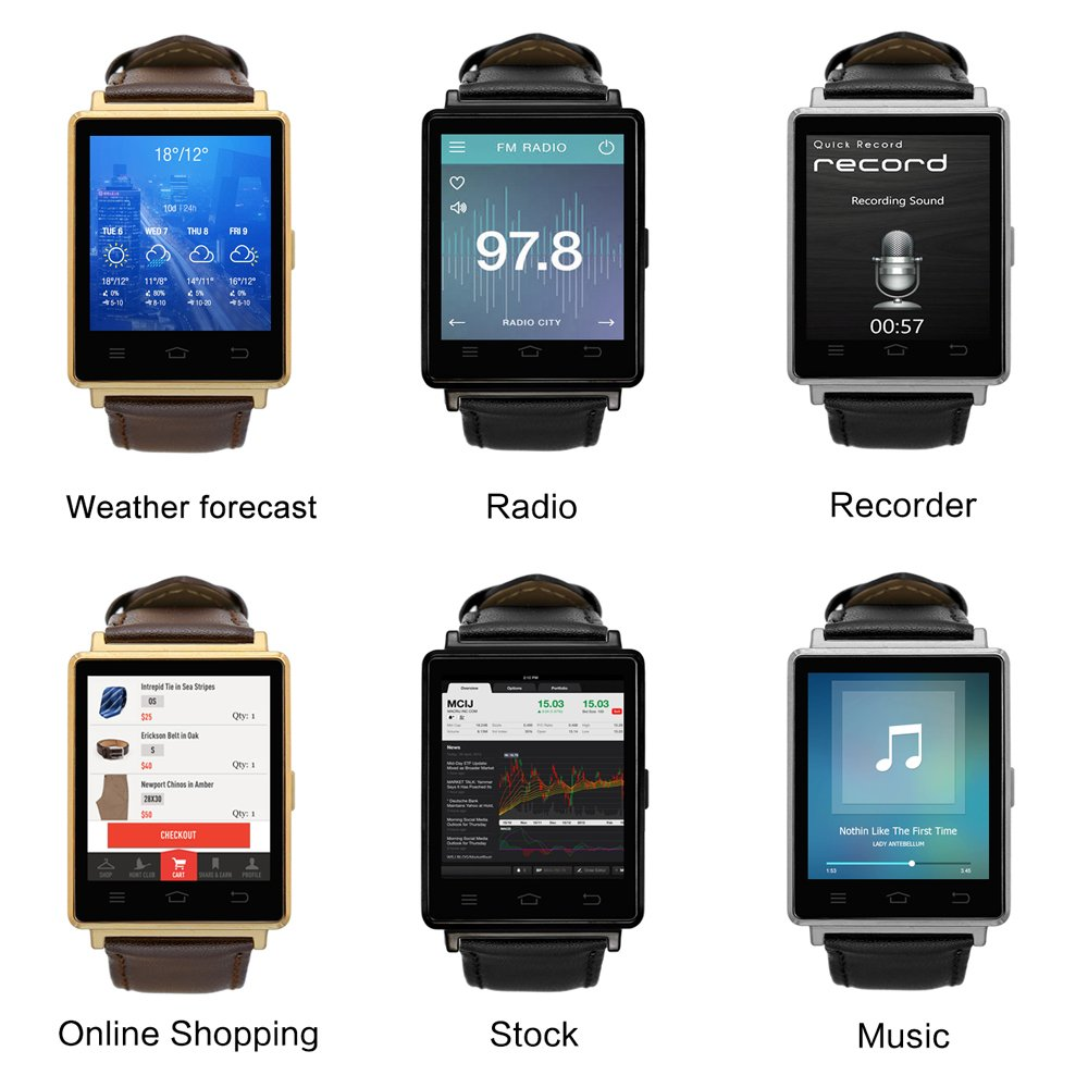Amazon.com : Generic No.1 D6 3G Smart Watch - 1.63 Inch ...