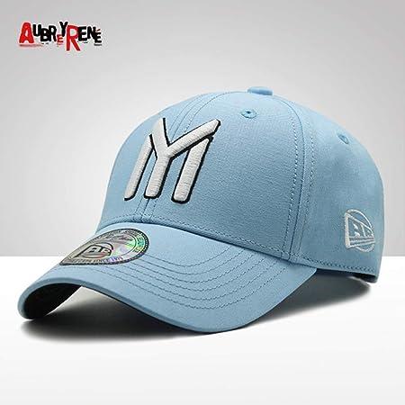 sdssup Gorra de Béisbol NY Big Letter Cap Pareja Casual Cap Azul ...