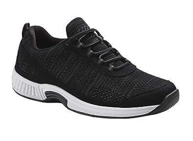 8b360575e6d4b Orthofeet Lava Most Comfortable Orthopedic Plantar Fasciitis Diabetic  Athletic Men s Shoes Black