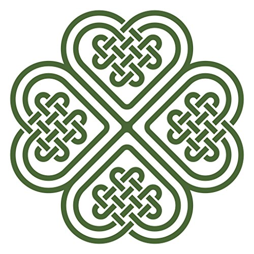 Divine Designs Celtic Knot Four Leaf Clover Vinyl Decal Sticker (4
