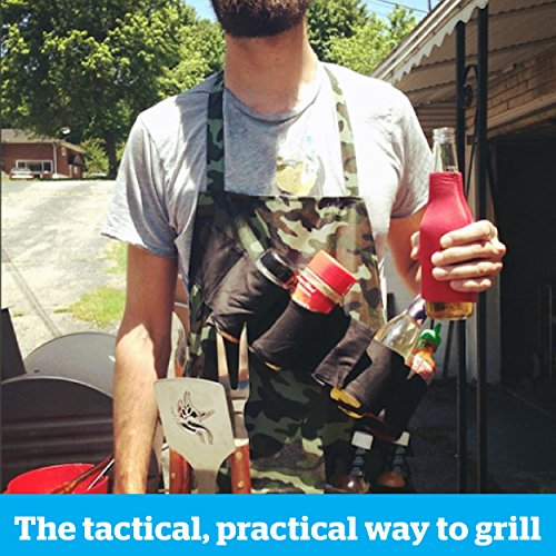 BigMouth Inc The Grill Sergeant BBQ Apron, Cotton Camouflage Gag Gift for Cookouts, Adjustable Strap, Pockets and Bottle Opener Included by BigMouth Inc (Image #4)