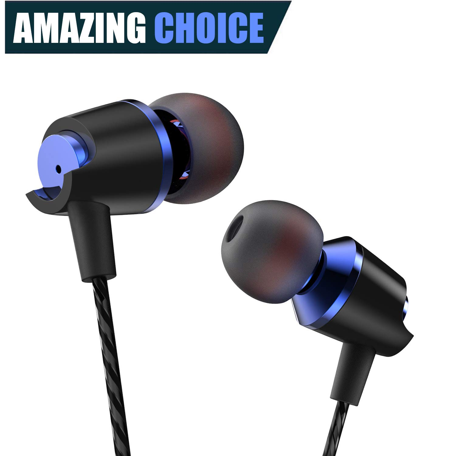 Earbuds Ear Buds in Ear Headphones Wired Earphones with Microphone Mic Stereo and Volume Control Waterproof Wired Earphone Android Mp3 Players Tablet Laptop 3.5mm Audio