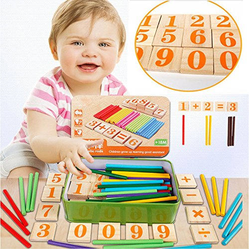 [Preschool Spindles Montessori Mathematics Math Wooden Counting Sticks for Kids] (Halloween Costume Lesson Plans)