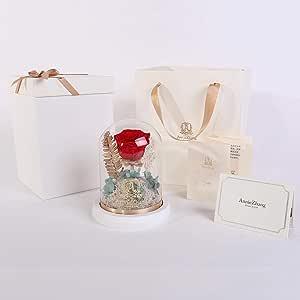 Natural rose processor with luminous vase