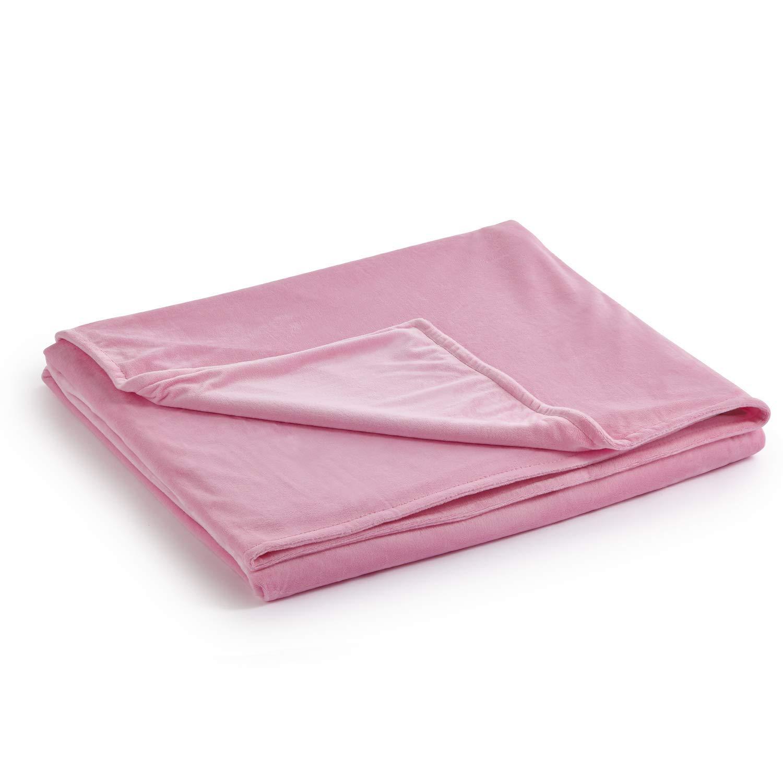 重みづけブランケットのためのデュベットカバー B07MP3BQQV Pink-minky