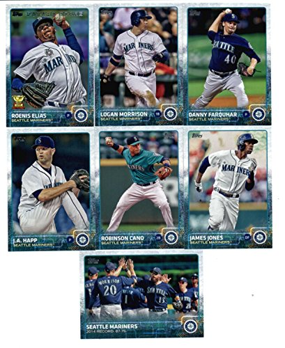 2015 Topps Baseball Cards Seattle Mariners Team Set In Storage Case (Series 1 & 2 - 22 Cards) Including Kendrys Morales, Dominic Leone, Fernando Rodney, Charlie Furbush, Chris Young, Mike Zunino, Dustin Ackley, Felix Hernandez, Kyle Seager, Austin Jackson