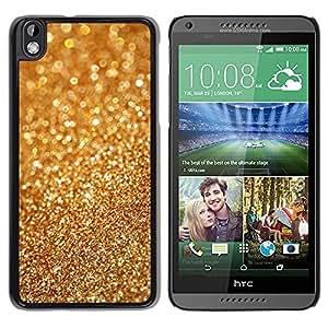 Design for Girls Plastic Cover Case FOR HTC DESIRE 816 Gold Dust Bling Blurry Metal Glitter Shiny OBBA