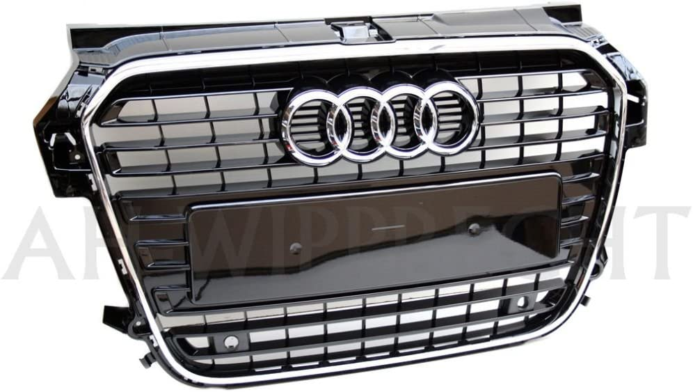 K/ühlergrill Original Audi A1 S-Line schwarz gl/änzend Chromrahmen Tuning Grill 8X0853651 T94