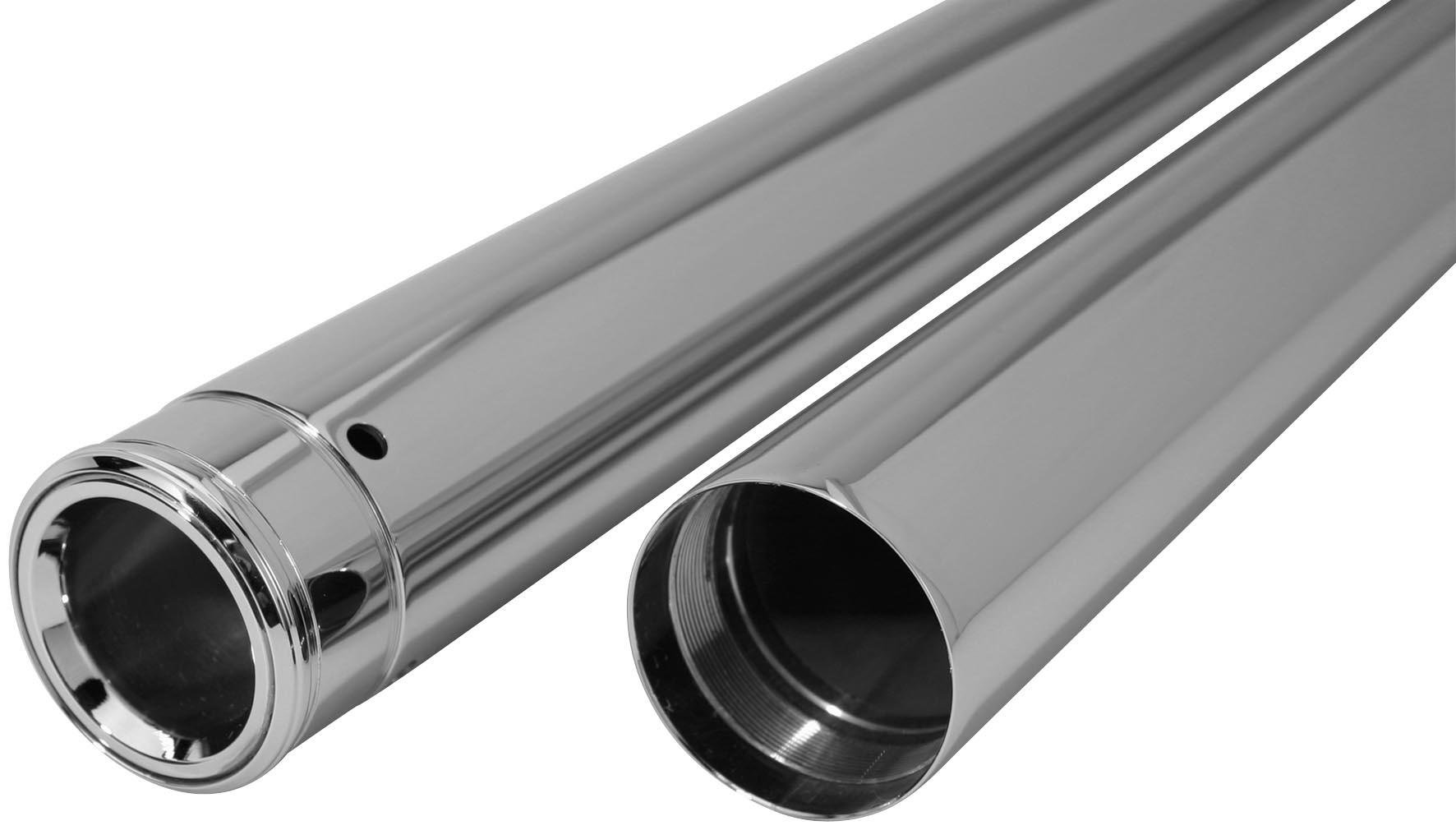 Dew Manufacturing 39mm 28.25in. Show Chrome Fork Tubes for Harley Davidson 1987