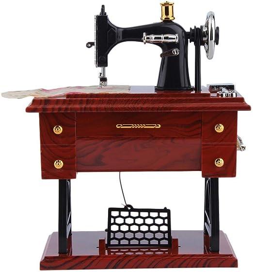 Cajas Musicales Mini Vintage Lockwork Máquina De Coser Caja De ...