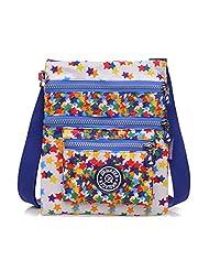 TianHengYi Small Water Resistant Nylon Cross-body Shoulder Bag Multilayers