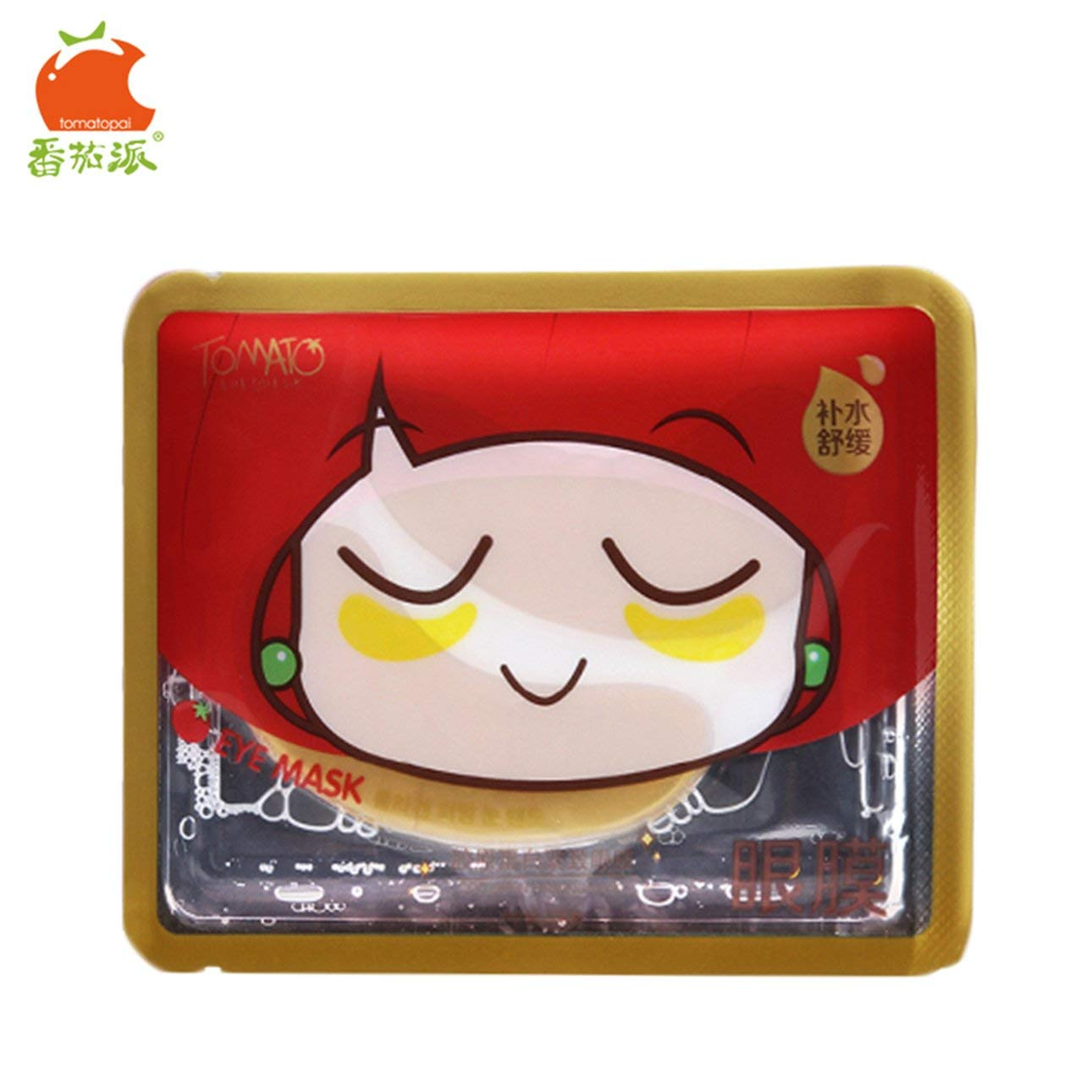 Liobaba TOMATO PIE 140G Smooth Collagen Firming Moisturizing Eye Mask Gold Osmanthus Remove Dark Circles Skin Care Eye Mask