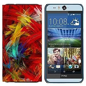 EJOOY---Cubierta de la caja de protección para la piel dura ** HTC Desire Eye M910x ** --Cepillo de pintura colorida ilustraciones óleo moderna