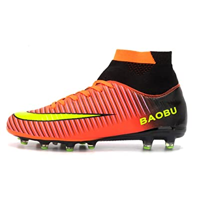 9893c6300ab4a LANSEYAOJI Football Boots High Top Soccer Shoes Mens Boys Professional  Spikes Football Shoes Training Shoes Teenagers