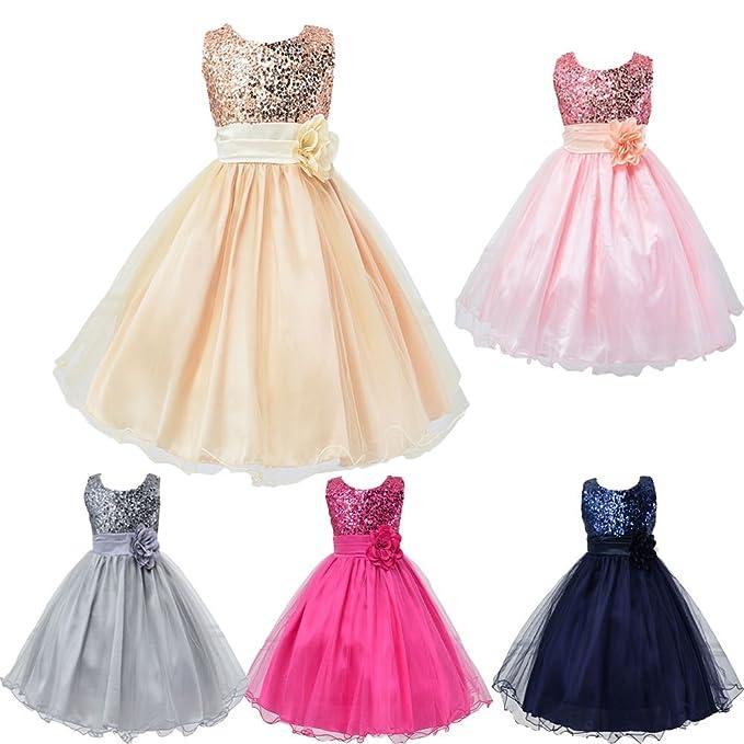 Amazon.com: Hotone Girl Kid Princess Wedding Bridesmaid Party Formal ...